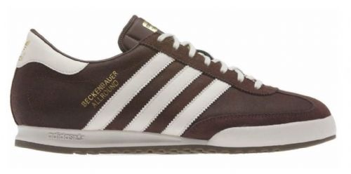 New Adidas Originals Beckenbauer Brown with Cream Suede Leather Trainers